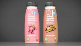 Asda milkshake brand illustration