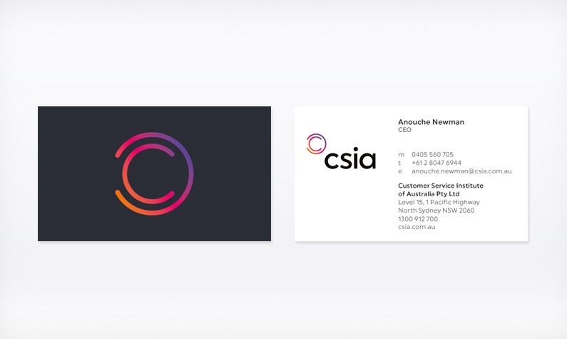 CSIA business card