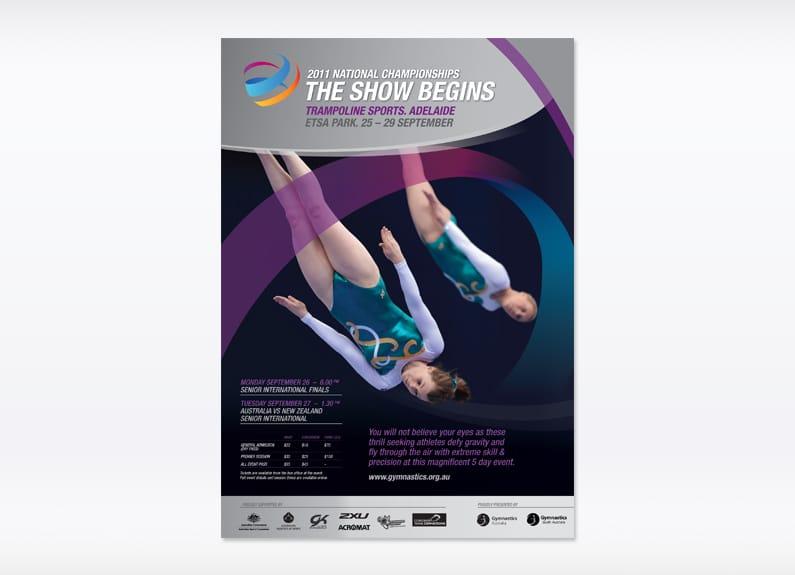 2011 National Championship Gymnastics poster