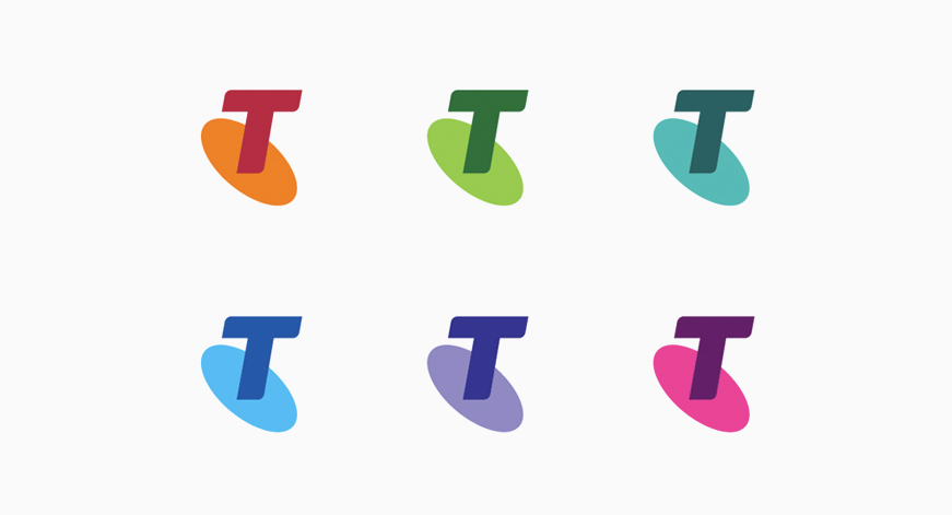 Telstra logo in full color