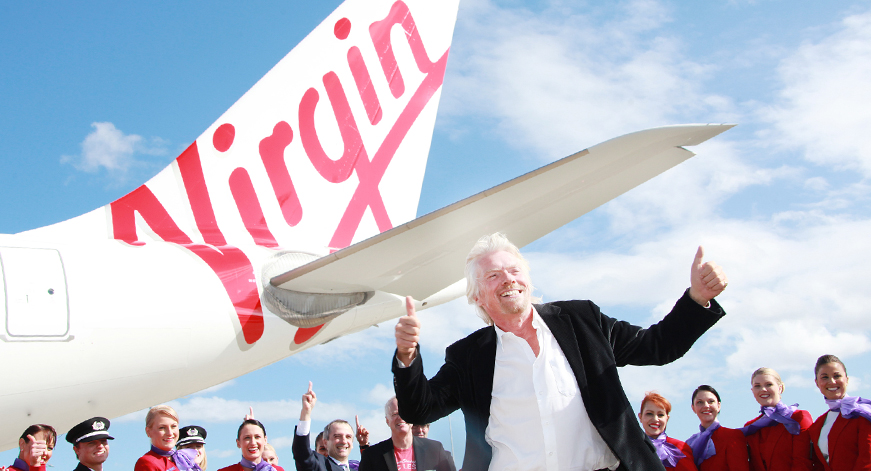 Virgin Australia's brand takes their brand up