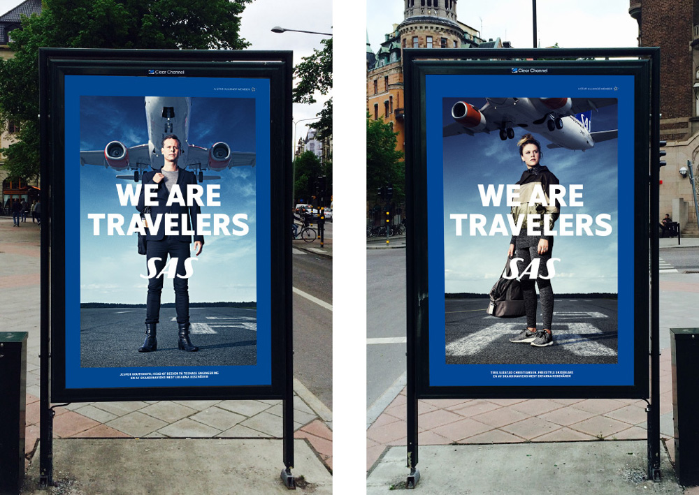 Rebrand Scandinavian Airlines liquid branding agency