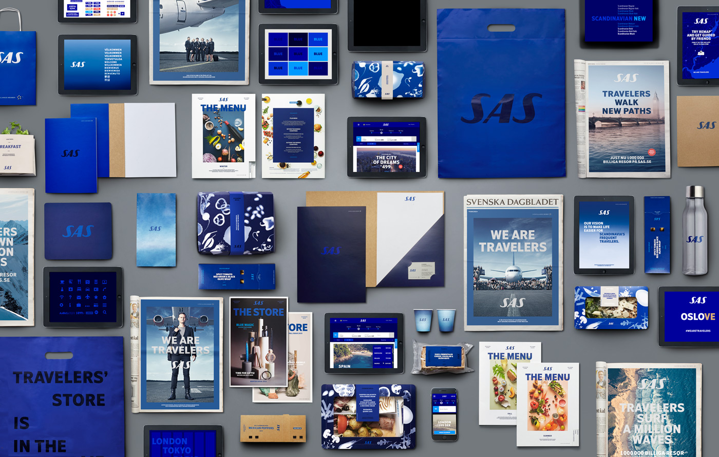 Scandinavian Airlines Rebrand material