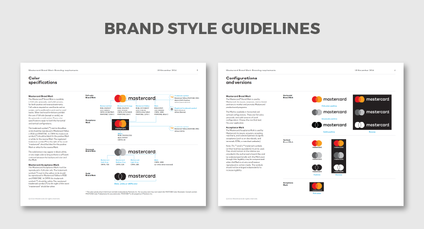 Brand Identity style guideline mastercard case study