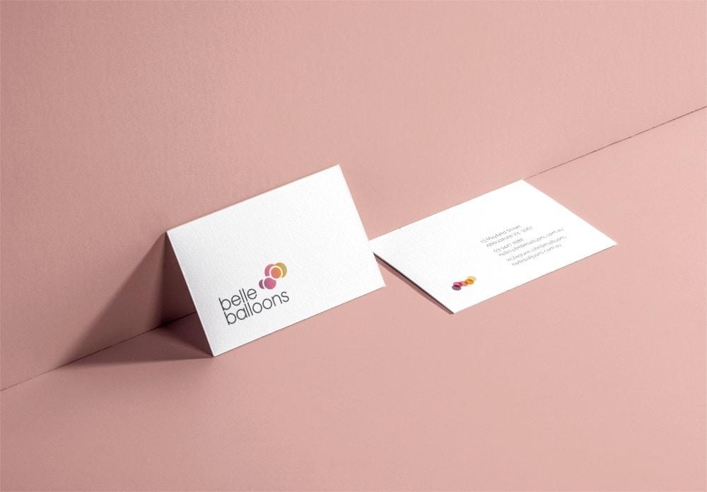 Belle Balloons Business Card