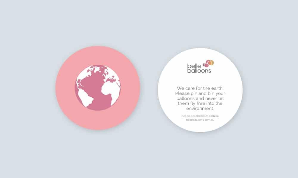 Belle Balloons Environment card