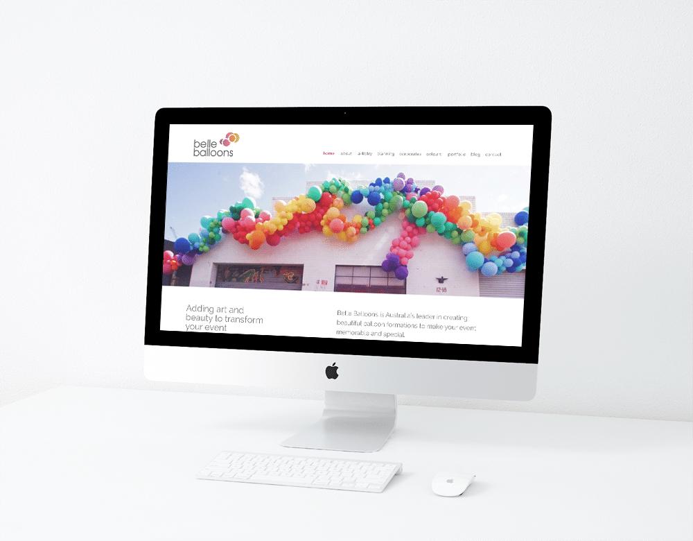 Belle Balloons Website Design