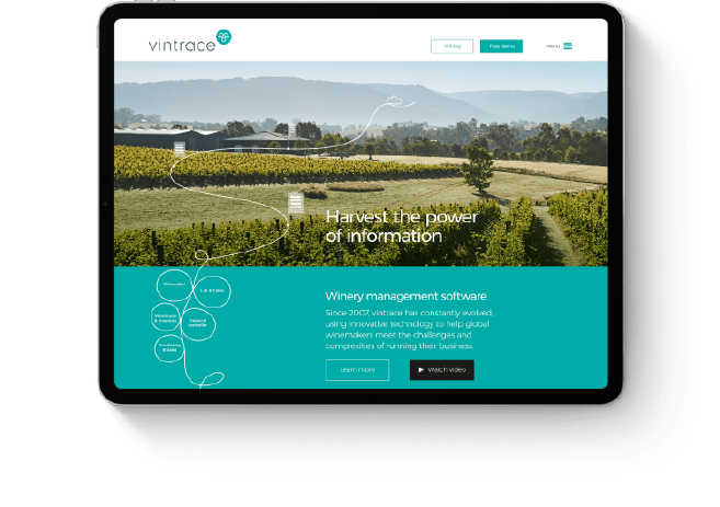 Vintrace brand website