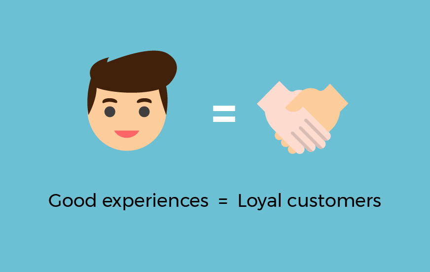 good experiences loyal customers