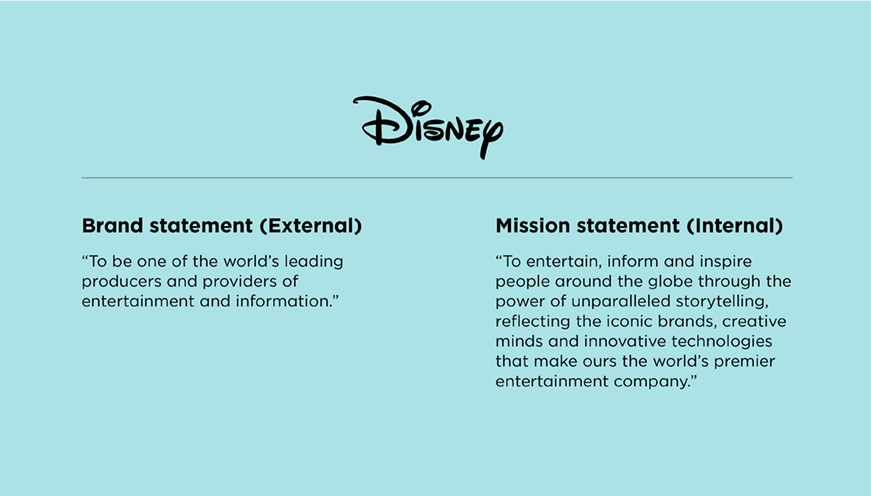Difference between brand statement and mission statement